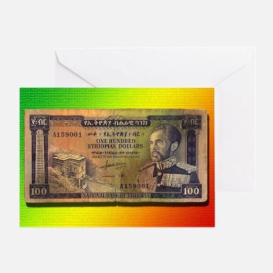 Ras Tafari Money Greeting Card