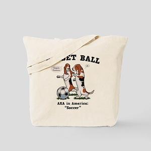 Basset Ball Tote Bag