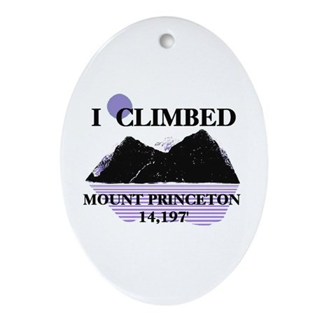 I Climbed MOUNT Princeton 14, Ornament (Oval)