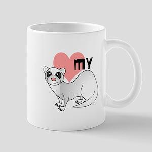 Love My Silver Ferret Mug