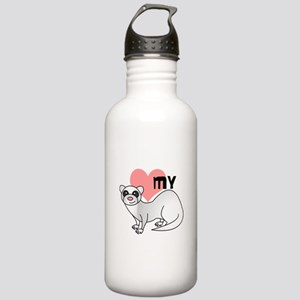 Love My Silver Ferret Stainless Water Bottle 1.0L