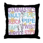 Large Accent Pillow for Gymnast Themed Decor
