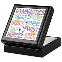 Gymnast Themed Keepsake Box