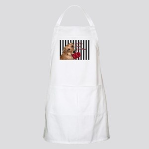 Golden Stolen Heart BBQ Apron