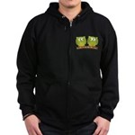 The owls are not what they seem Zip Hoodie (dark)