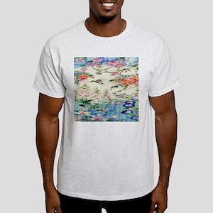 Beautiful Butterflies and Flowers Light T-Shirt