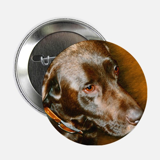 "Chocolate Lab 2.25"" Button"
