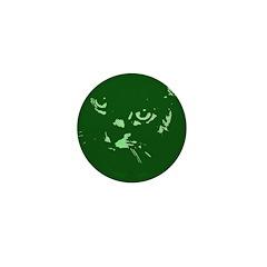 Pop Art Gray Cat Mini Button (100 pack)