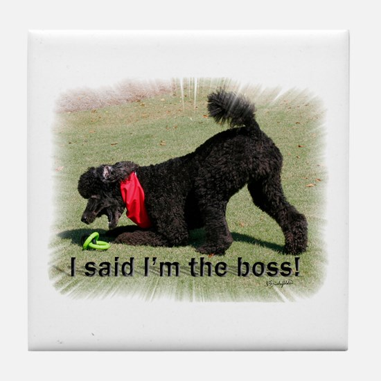 I'm the Boss Tile Coaster