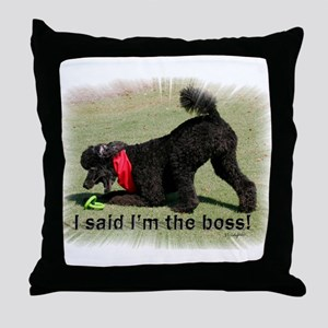 I'm the Boss Throw Pillow