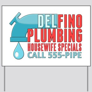 Delfino Plumbing Yard Sign