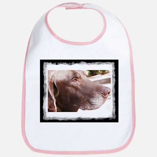 Chocolate Labrador Bib