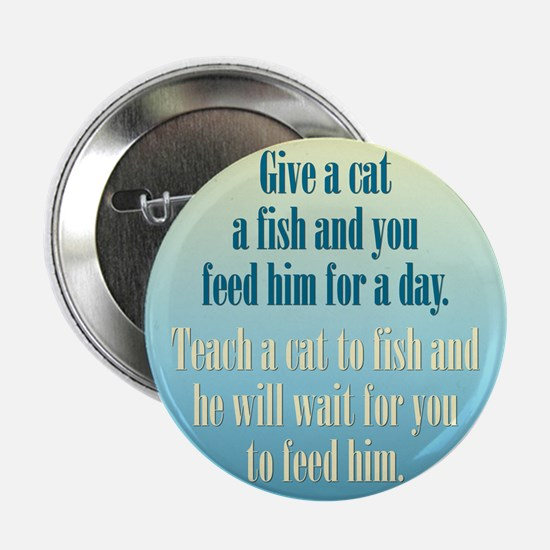 "Give a Cat a Fish (Male) 2.25"" Button"