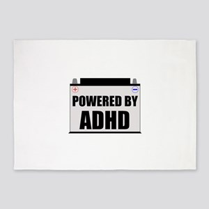 Powered By ADHD 5'x7'Area Rug