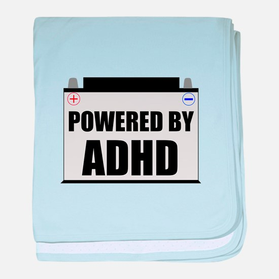 Powered By ADHD baby blanket