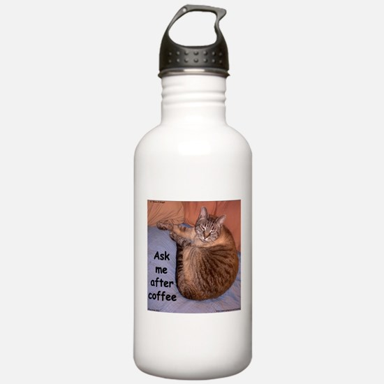 Ask Me After Coffee Water Bottle