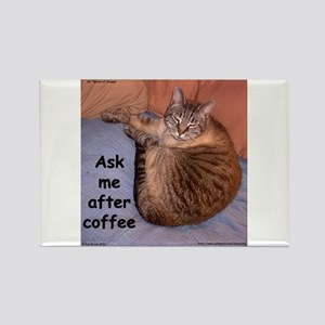Ask Me After Coffee Rectangle Magnet