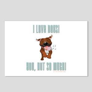 I LOVE DOGS! Postcards (Package of 8)