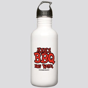 Make BBQ Not War Stainless Water Bottle 1.0L