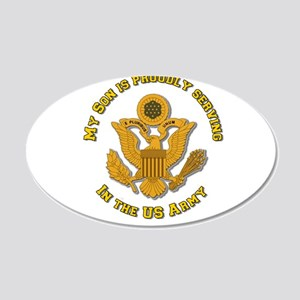 Army Son Gold 22x14 Oval Wall Peel