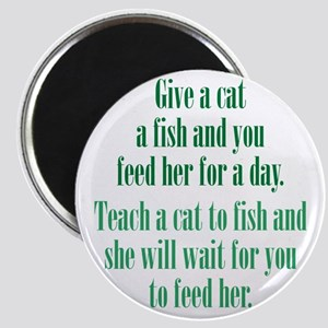 Give a Cat a Fish (Female) Magnet