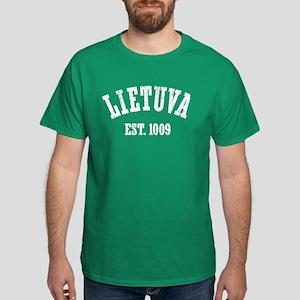 Distressed Lietuva Est. 1009 Dark T-Shirt