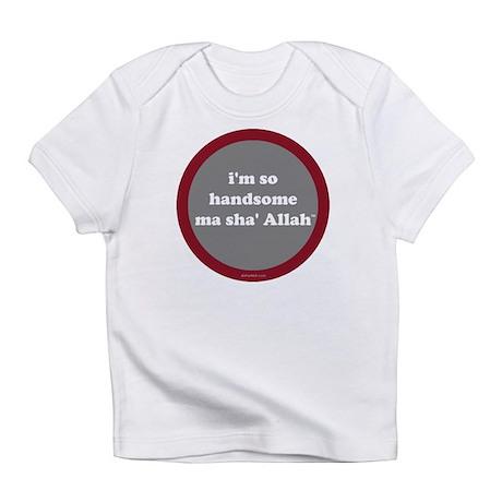 MaShaAllah Infant T-Shirt (gray+red)