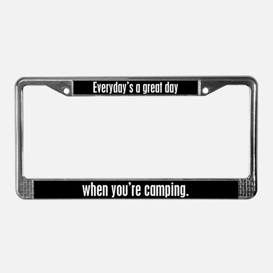 Camping License Plate Frame