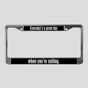 Sailing License Plate Frame