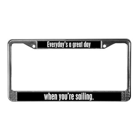Sailing License Plate Frame