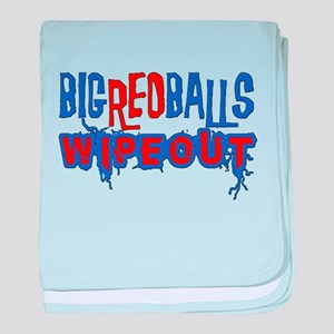 Big Red Balls Wipeout baby blanket