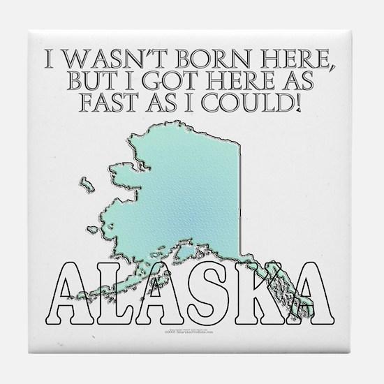 Got here fast! Alaska Tile Coaster