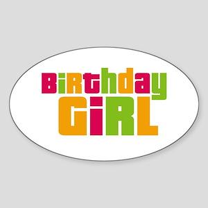Birthday Girl Sticker (Oval)