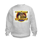 I Love Dave Kids Sweatshirt