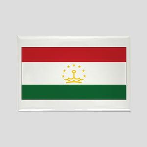 Tajikistan Flag Rectangle Magnet