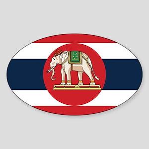 Thailand Naval Ensign Sticker (Oval)