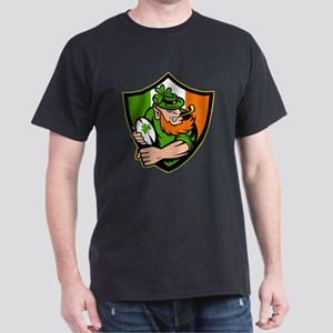 Irish leprechaun rugby Dark T-Shirt
