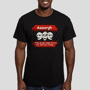 Pirates Noggin of Rum Men's Fitted T-Shirt (dark)