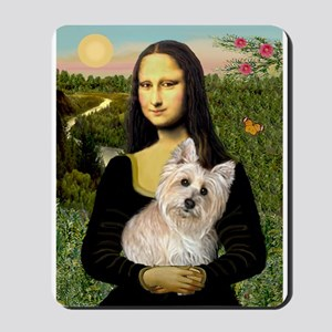 Mona & her Cairn (#3) Mousepad
