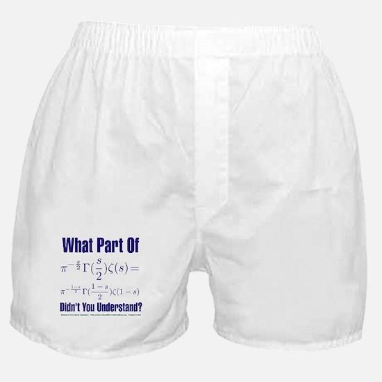 What part of Riemann's? Boxer Shorts