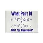 What part of Riemann's? Rectangle Magnet (100 pack