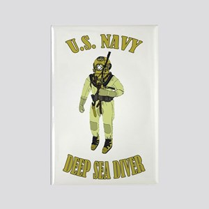 U.S. Navy Deep Sea Diver Rectangle Magnet