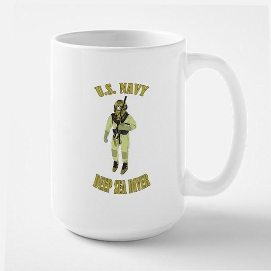 U.S. Navy Deep Sea Diver Large Mug