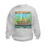 Tie Dye Turtle Watercolor Kids Sweatshirt