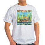 Tie Dye Turtle Watercolor Ash Grey T-Shirt