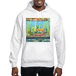Tie Dye Turtle Watercolor Hooded Sweatshirt
