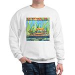 Tie Dye Turtle Watercolor Sweatshirt