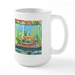 Tie Dye Turtle Watercolor Large Mug