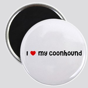 I * my Coonhound Magnet