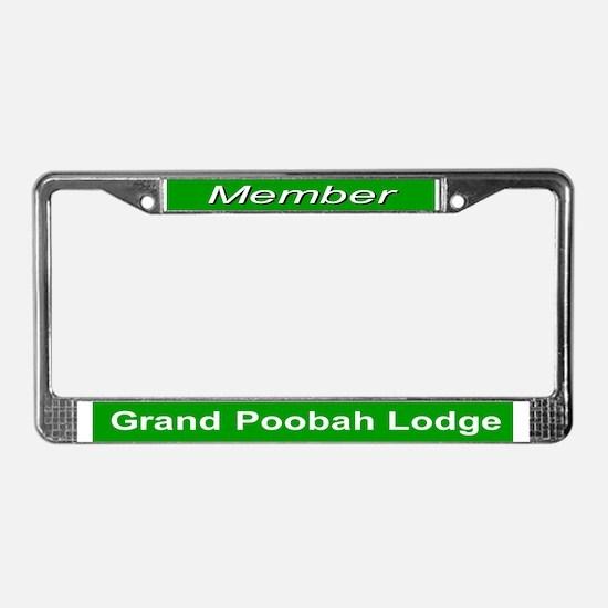 Grand Poobah Lodge License Plate Frame